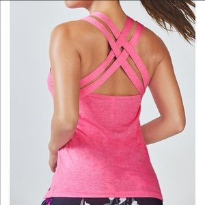 Pink Strappy Fabletics Tank Top